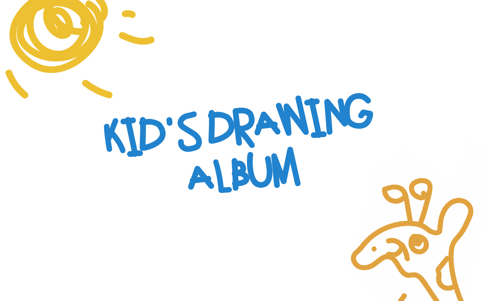 Kids drawing album
