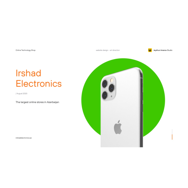 Website of Irshad Electronics